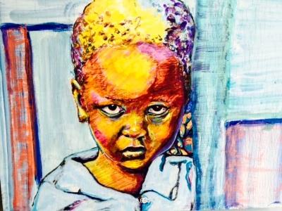 Leroy Elis acrylic painting