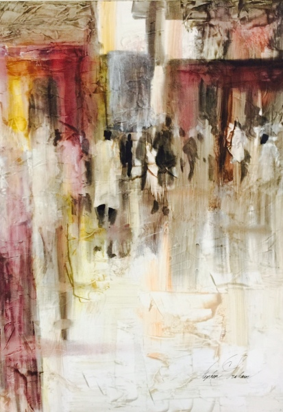 Stephen C Graham exhibiting impressionistic acrylics